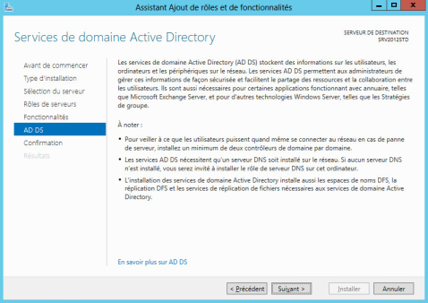 Service Active Directory