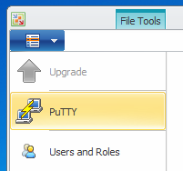 Lancement de Putty