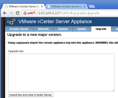 vcenter 5.1:5480 Upgrade