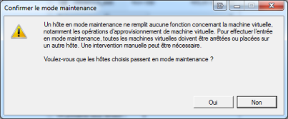 Confirmer le mode maintenance