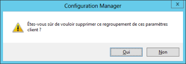 Validation de suppression