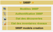 Menu SNMP\SNMP models creation