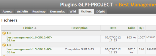Site du plugin Best Management