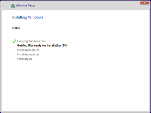 Etape 2 : Installation Windows 10 Preview