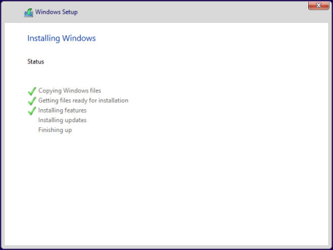 Etape 3 : Installation Windows 10 Preview