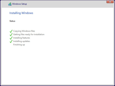 Etape 4 : Installation Windows 10 Preview